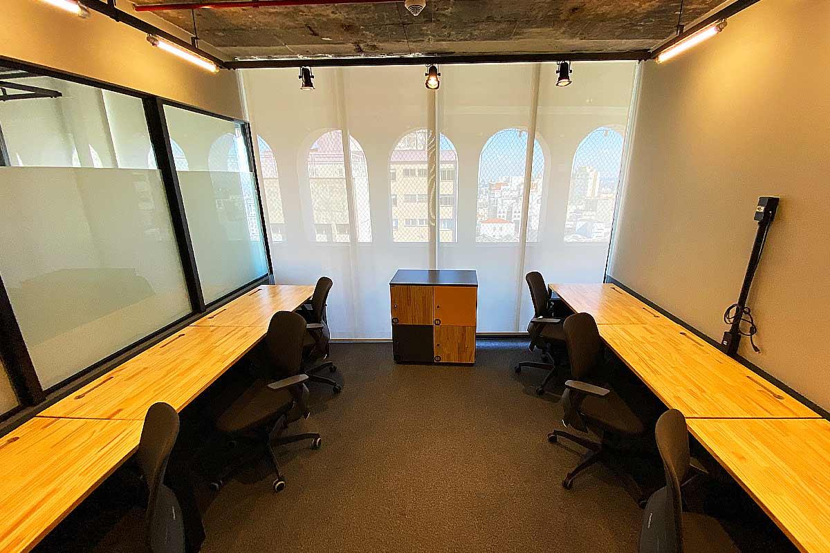 Sala 6 pessoas Coworking